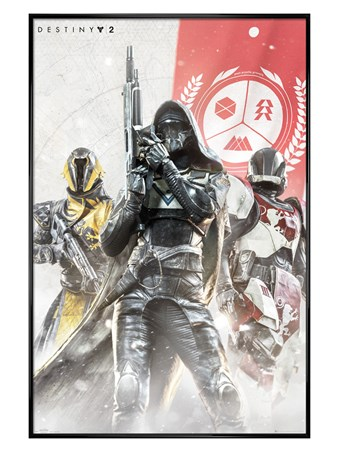 Gloss Black Framed Characters - Destiny 2