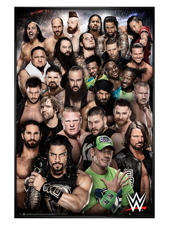 Gloss Black Framed Superstars 2018 - WWE