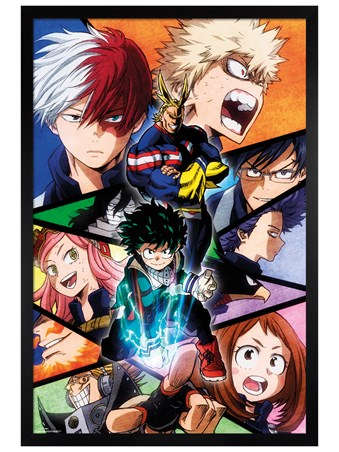 Framed Black Wooden Framed Character Burst - My Hero Academia