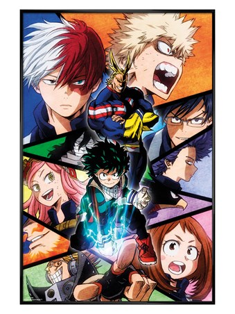 Gloss Black Framed Character Burst - My Hero Academia