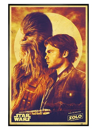 Gloss Black Framed Han and Chewie - Solo: A Star Wars Story
