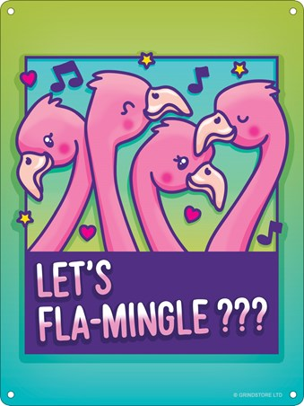 Let's Fla-mingle ??? - Flamingo Friends