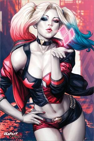 Harley Quinn Kiss - Batman