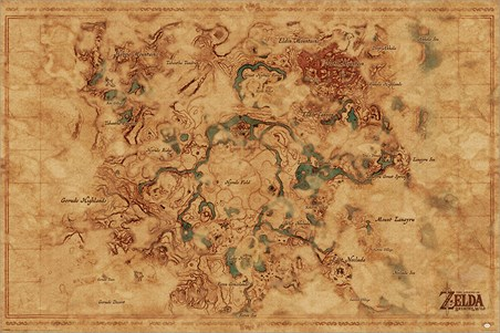 Breath Of The Wild Hyrule World Map - The Legend Of Zelda