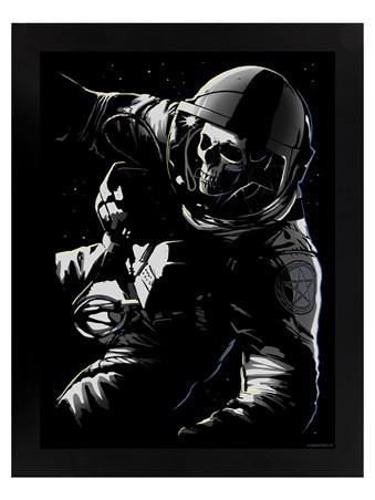 Lost In Space Black Wooden Framed Print - Unorthodox