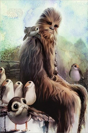 Chewbacca & Porgs - The Last Jedi