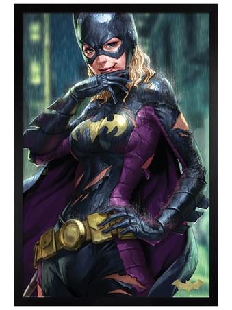 Black Wooden Framed Batgirl - Batman