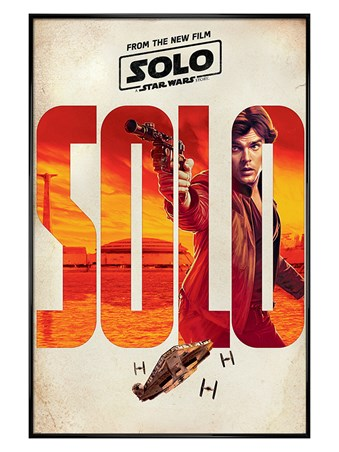Gloss Black Framed Solo Teaser - Solo: A Star Wars Story