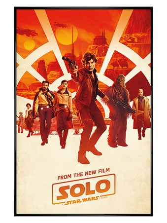 Gloss Black Framed Millennium Teaser - Solo: A Star Wars Story
