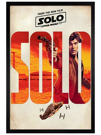 Black Wooden Framed Solo Teaser - Solo: A Star Wars Story