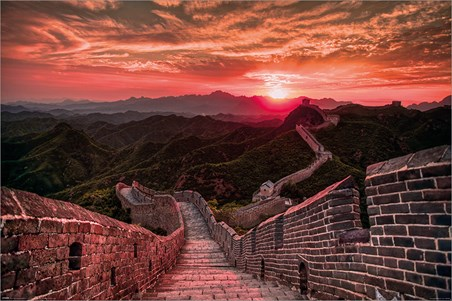 The Great Wall Of China Sunset, Travel