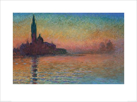 Sunset in Venice - Monet