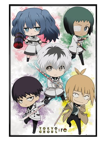 Gloss Black Framed Chibi Characters - Tokyo Ghoul
