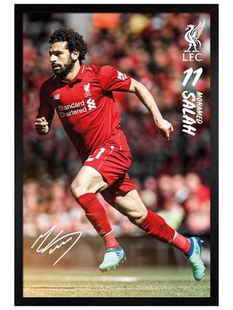 Black Wooden Framed Salah - Liverpool 18-19