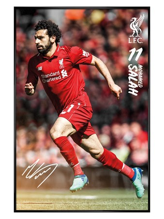 Gloss Black Framed Salah - Liverpool 18-19