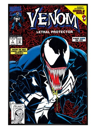 Gloss Black Framed Lethal Protector Part - Venom