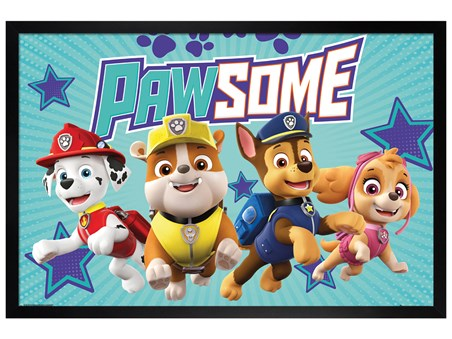Black Wooden Framed Pawsome - Paw Patrol