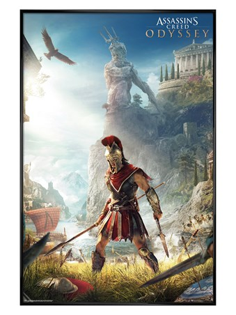 Gloss Black Framed Odyssey Keyart - Assassins Creed