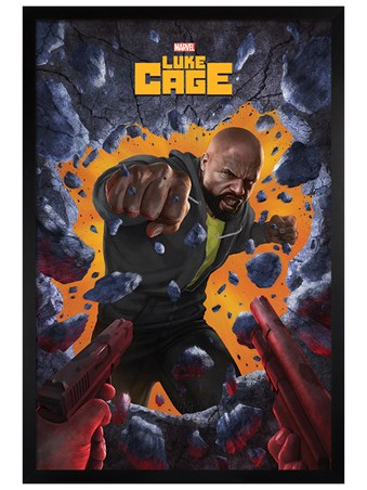 Black Wooden Framed Wall Break - Luke Cage