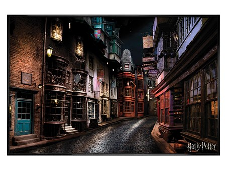 Gloss Black Framed Diagon Alley - Harry Potter