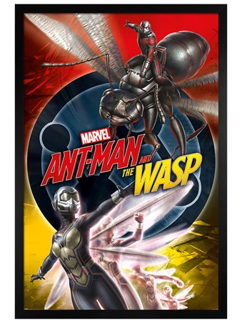 Black Wooden Framed Unite - Ant-Man and The Wasp