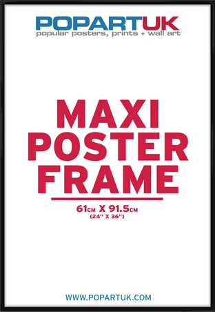 61x91.5cm Gloss Black Poster Frame - Suitable for Regular Posters