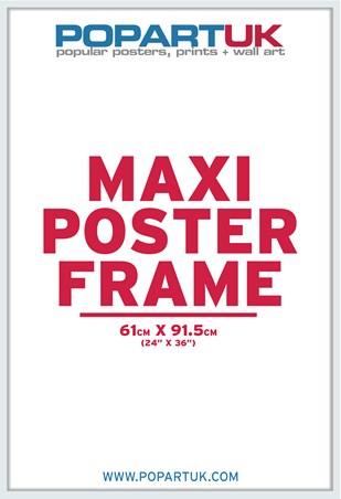 61x91.5cm Gloss White Poster Frame - Suitable for Regular Posters