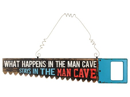 What Happens In The Man Cave - Saw Shaped