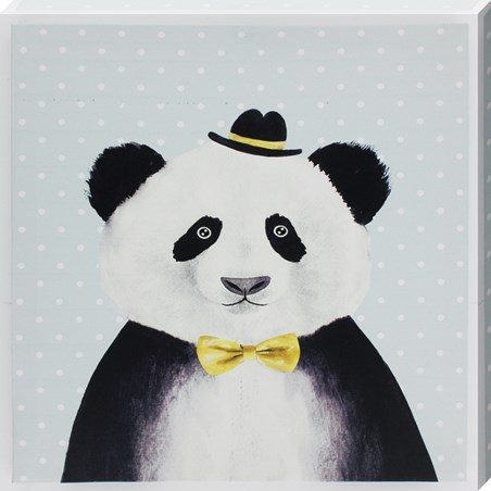 Panda In Bowler Hat - Smart Bear