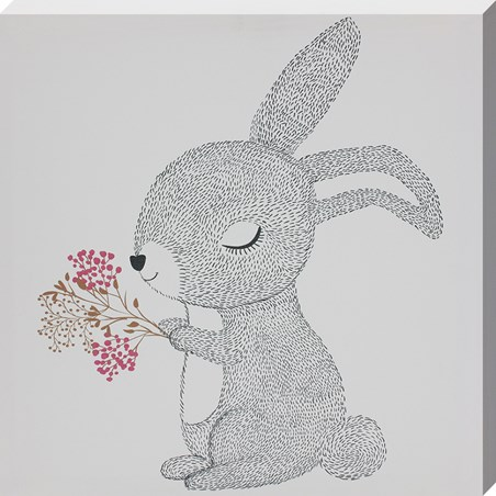 Sweet Snuffles - Bunny With Flowers