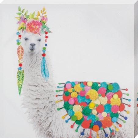 Colourful and Fashionable, Funky Llama In Headdress