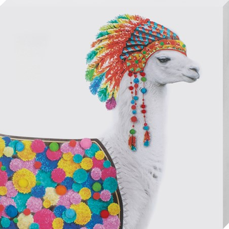 Looking Llovely - Funky Native Llama