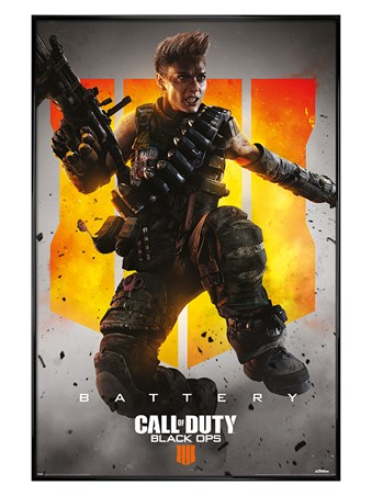 Gloss Black Framed Battery - Call Of Duty: Black Ops 4