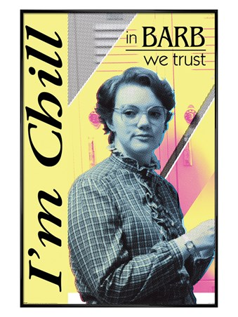 Gloss Black Framed In Barb We Trust - Stranger Things