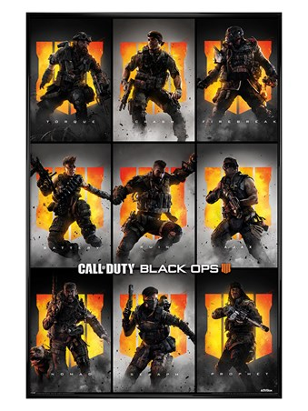 Gloss Black Framed Characters - Call Of Duty: Black Ops 4