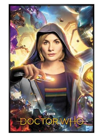 Gloss Black Framed Universe Calling - Doctor Who