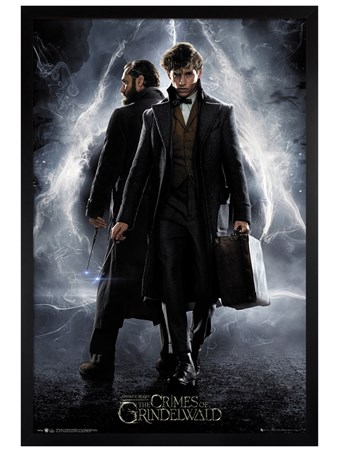 Black Wooden Framed Albus & Newt - Fantastic Beasts 2