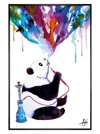 Gloss Black Framed Chai Panda - Marc Allante