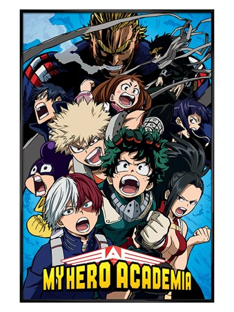 Gloss Black Framed Cobalt Blast Group - My Hero Academia