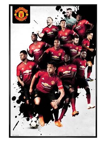 Gloss Black Framed Players 18-19 - Manchester United