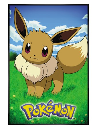 Gloss Black Framed Eevee - Pokemon