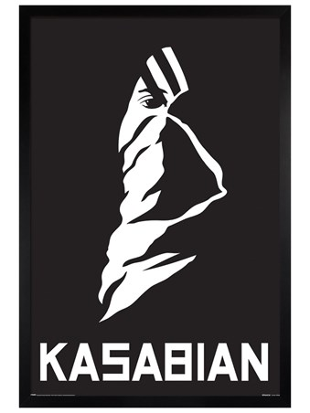 Black Wooden Framed Ultra Face - Kasabian