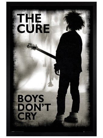 Black Wooden Framed Boys Don't Cry - The Cure