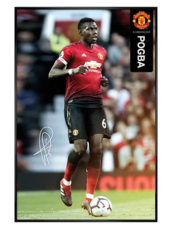 Gloss Black Framed Pogba 18-19 - Manchester United