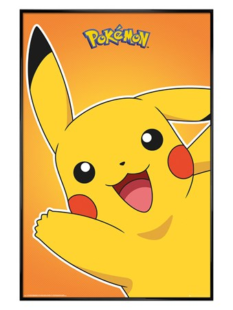 Gloss Black Framed Pikachu - Pokemon