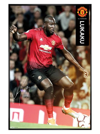 Gloss Black Framed Lukaku 18-19, Manchester United