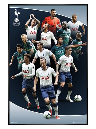 Gloss Black Framed Players 18-19 - Tottenham Hotspur