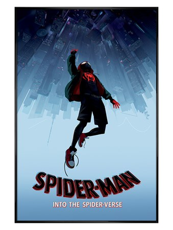 Gloss Black Framed Into The Spider-Verse - Spider-Man