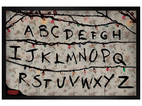 Black Wooden Framed (R, U, N) - Stranger Things