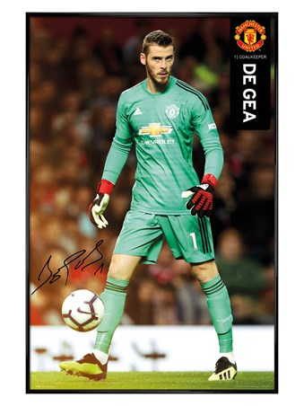 Gloss Black Framed De Gea 18-19 - Manchester United